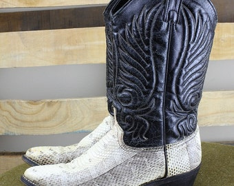 Ladies Snakeskin Cowgirl Boots