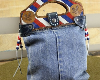 Americana Denim Handbag
