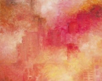 """AGGLOMERATION"", Acrylic paint on canvas."
