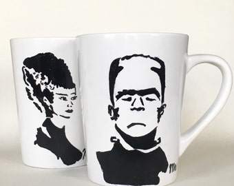 Mr. And Mrs. Frankenstein monster and bride