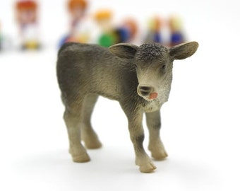 1pcs Baby Cow Dollhouse Charm, Decoden Charm, Key Chain, Decoration, Figurine, Miniature 45mm - HN20