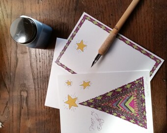 Magenta & Olive Zen Inspired Christmas Tree Card