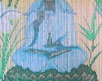 Quan Yin Goddess Bamboo Curtain