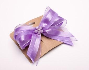 Hair bow Purple - 4''