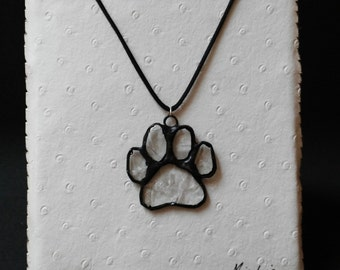 """Pendant """"footprint"""" glass Tiffany.Collar glass.  Gifts for her. Gift ideas for the."""