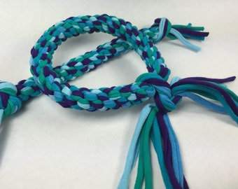 Mermaid Mix Rope Dog Toy made from Upcycled T-shirts