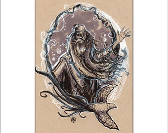 Dumbledore - PEN and INK Series