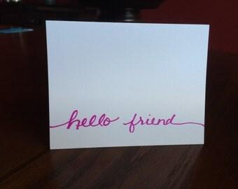 Hello Blank Card