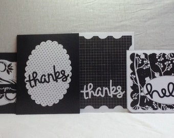 BLACK and WHITE NOTE Cards