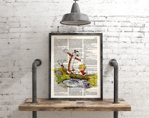 Calvin and Hobbes, Calvin, Hobbes, Hobbes Print, Wall Art Print, Buy 3 get 1 free, Dictionary Print, Children Poster, Nursery Decor, 005