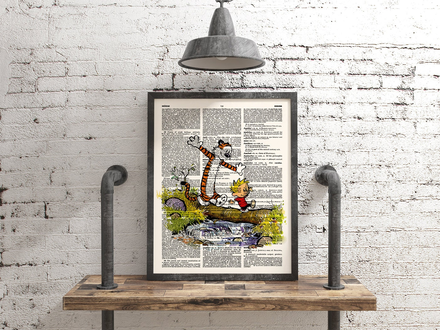 Calvin and hobbes children poster wall art print dictionary for Calvin and hobbes nursery mural