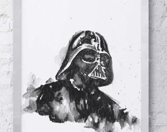 Star Wars Darth Vader Watercolor Print