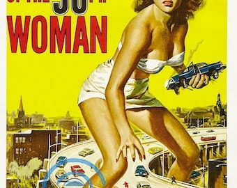 Attack Of The 50Ft Woman Vintage Movie Poster