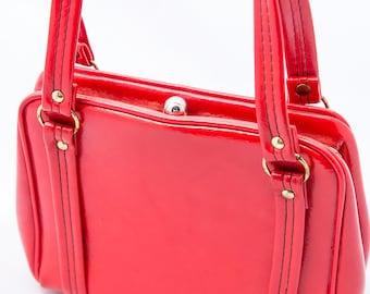 Vintage Red Dover Handbag Purse