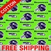 """Seattle Seahawks Cotton Fabric NFL 60"""" Wide.  Style SEA-6716. Free Shipping."""