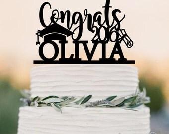 Graduation cake topper,graduation party decorations,grad 2016,congrats 2016