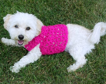 small dog clothes, pink dog vest, custom dog sweater, yorkie clothes, whippet sweater, dachshund clothes , teacup dog clothes, pink dog coat