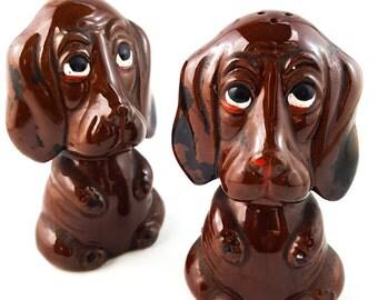 NEW PRICE!! Sad Dog Salt and Pepper Shakers