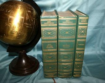 International Collectors Library//Set of 3 Books//John Galsworthy//Joseph Conrad//Vintage Books