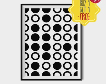 Polka dot, abstract print, geometric wall art, buy one get one free, minimal poster, entry way wall decor, pattern print, gift for coworker