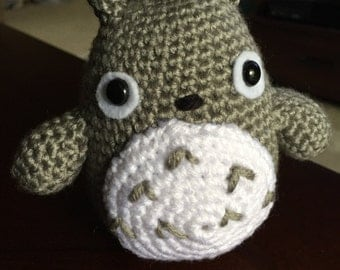 Crochet Totoro, Amigurumi Totoro, My Neighbor Totoro, Totoro Plush, Handmade Stuffed Animal, Totoro Toy