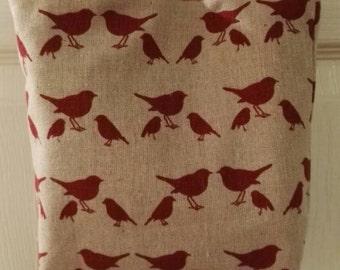 Red Birds Mini Tote Bag