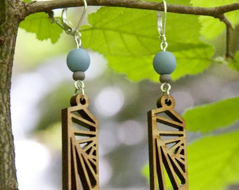 Earrings wooden WOODEARZ VERTIGO
