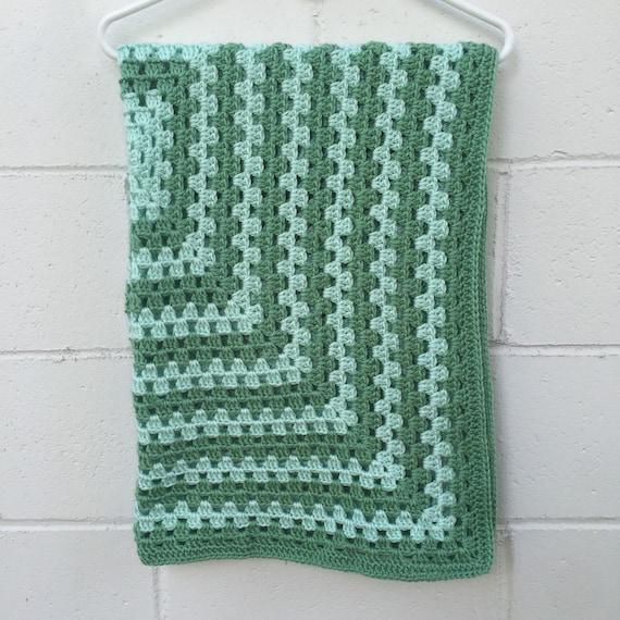 Crochet Baby Blanket. Gender Neutral. Ready to Ship. Granny