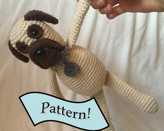 Wilder's mastiff puppy dog crochet pattern, amigurumi pattern, dog crochet pattern
