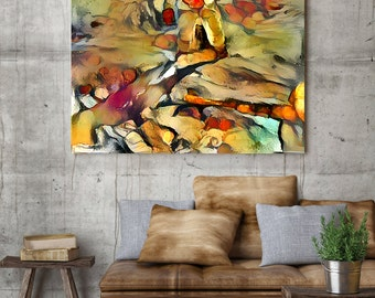 New Kitchen Prints – Abstract Canvas Prints in Cezanne Style – Best Selling Items – London Prints by FusionArtWorks