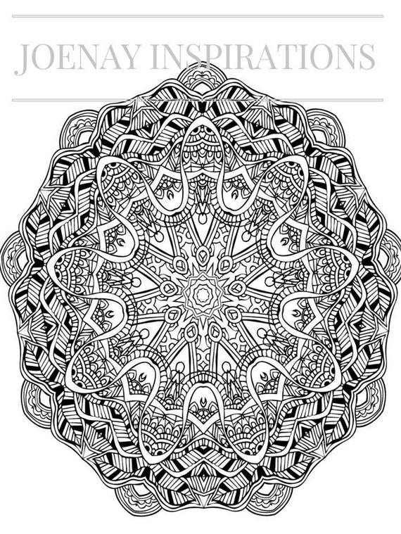 Adult Coloring Book, Printable Coloring Pages, Coloring Pages, Coloring Book for Adults, Instant Download Magnificent Mandalas 2 page 5