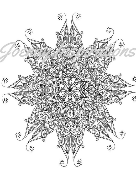 Adult Coloring Book, Printable Coloring Pages, Coloring Pages, Coloring Book for Adults, Instant Download Magnificent Mandalas 3 page 3