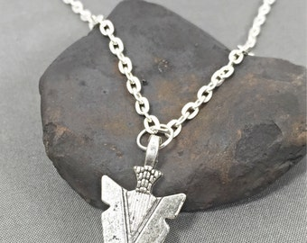 "Dainty Silver Vintaged Style ""Arrowhead Pendant Necklace"",Mens Arrowhead Necklace, Arrowhead Jewelry,Metal Arrowhead,Arrowhead Necklace Gift"
