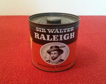Tobacco Tin Sir Walter Raleigh Brown & Williamson Tobacco Corporation Home Decor