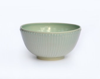 Small Striped Serving Bowl