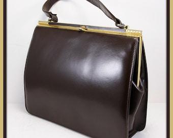 Vintage Leather Handbag, Vintage Handbag, Vintage Leather Purse, Vintage Purse, Vintage Leather Pocketbook, Vintage Pocketbook, Vintage Bag
