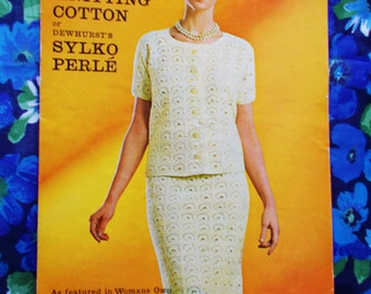 Vintage Crochet Pattern - Pattern no. 4118 - Woman's Crochet Suit - used