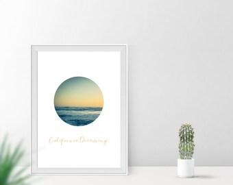 Art print / / california dreaming