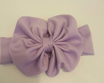 Sweet lilac Messy bow