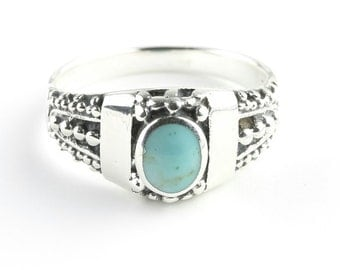 Turquoise Warrior Ring, Sterling Silver Turquoise, 925, Boho, Gypsy, Festival Jewelry, Gemstone, Western