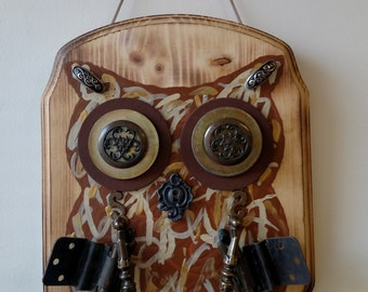 Handmade Tool Owl Plaque