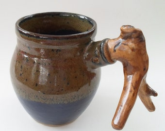 Wood Handle Mug