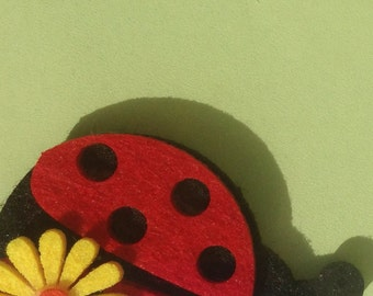 Green Thank You Card with Ladybird Detail
