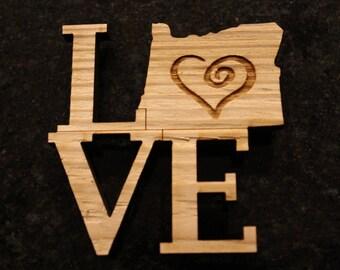 Love Oregon Magnet