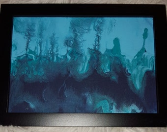 "5×7"" Abstract Liquid Painting ""Aquatic Dream"" by DCabstractpaintings"