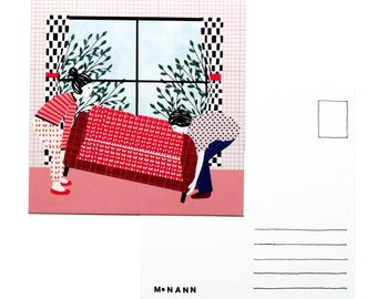 Illustration postcard - It's time for a change