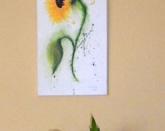 Original painting acrylic painting sunflower