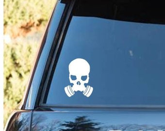 Gas Mask | Skull |Gas Mask decal | skull gas mask