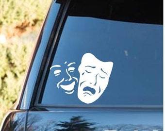 Drama decal | Theater mask decal | theater
