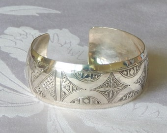 Bangle Silver Sterling Ethnique Bracelet Handmade Jewerly Craft Morocco